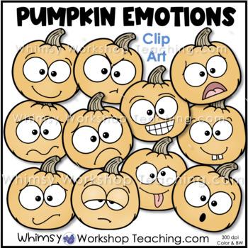 Pumpkin Faces Autumn Clip Art - Whimsy Workshop Teaching