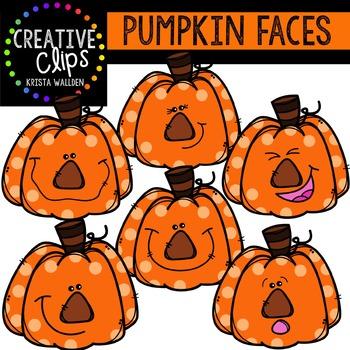 Pumpkin Faces {Creative Clips Digital Clipart}