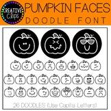 Pumpkin Faces Doodle FONT {Creative Clips Clipart}