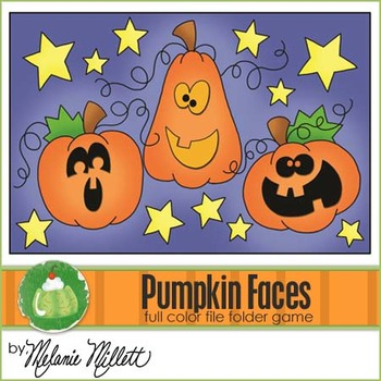 Pumpkin Faces File Folder Game