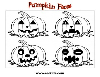 Pumpkin Faces Halloween Cards