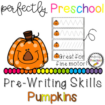Pumpkin Faces Prewriting Skills