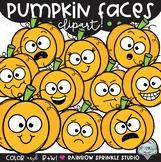 Pumpkin Faces {pumpkin clipart}