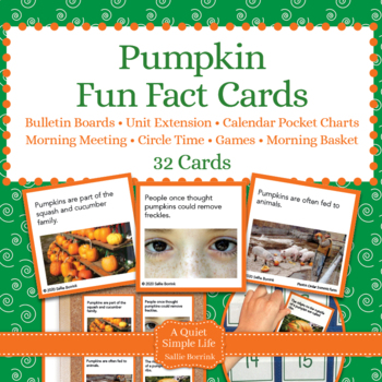 Pumpkins Unit Activity - Fun Fact Cards for Games, Bulletin Board