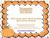 Pumpkin Fact Families (Scoot, Write the Room)