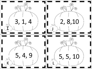 Pumpkin Fact Families (Scoot, Write the Room)