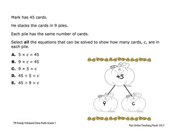 Pumpkin Fact Families for 7's and 8's   3.OA.4