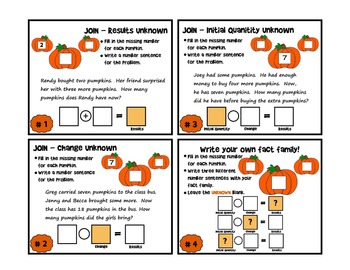Pumpkin Fact Family Center Activity