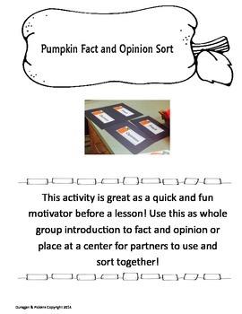 Pumpkin Fact & Opinion Sort