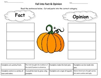 Pumpkin Fact and Opinion