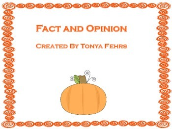 Pumpkin Fact and Opinion Task Cards