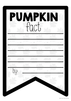 Pumpkin Facts Banner {Bunting, Garland, Pennant Display}