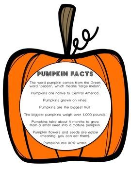 Pumpkin Facts (Grades 1-3)