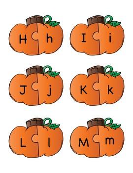 Pumpkin/Fall Alphabet Letter Match Game or Center