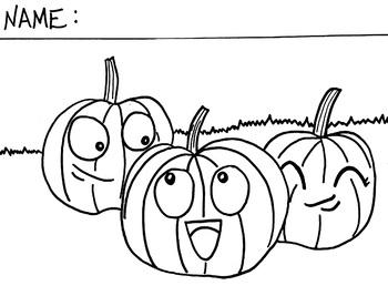 Pumpkin Fall Coloring Sheet
