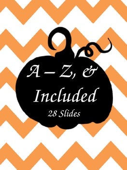 Pumpkin Fall Initial Print - Letters A - X, including & sign