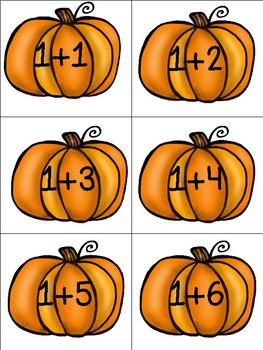 Pumpkin (Fall) Math Addition Game