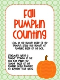 Pumpkin/ Fall counting assessment, practice, CFA, activity