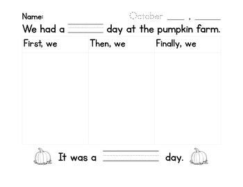 Pumpkin Farm Writing
