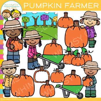 Pumpkin Farmer Clip Art
