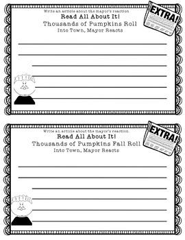 Fall Activities Too Many Pumpkins, Pumpkin Hill, Pumpkin Jack Book Companions