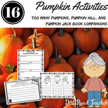 Too Many Pumpkins, Pumpkin Hill, Pumpkin Jack Book Companions
