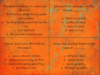 Pumpkin Fiesta Quiz Quiz Trade Cards HarcourtTrophies 2nd