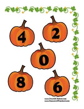 Pumpkin File Folder Halloween Printable for Preschool - Easy to Make