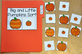 "Pumpkins File Folder Game:  ""Big and Little Pumpkins Sort"""
