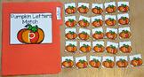 "Pumpkins File Folder Game:  ""Pumpkins Letter Match"""