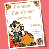 Pumpkin File Folder Games for Math Skills