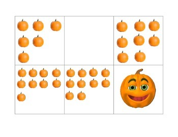 Pumpkin File Folder Number Matching