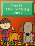 Pumpkin Fill in the Missing Letter