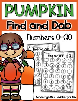 Pumpkin Find and Dab (Numbers 0-20)