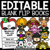 Pumpkin Flip Book Template Editable ALL YEAR