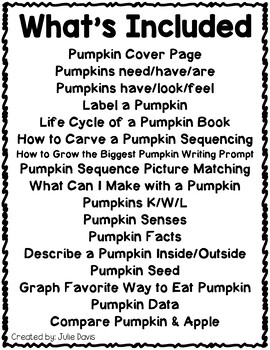 Pumpkin Flippy Flaps Interactive Notebook Lapbook
