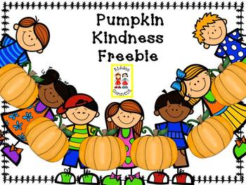 Pumpkin  Kindness Freebie