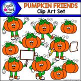 Pumpkin Friends Clip Art Set - Doodle Patch Designs