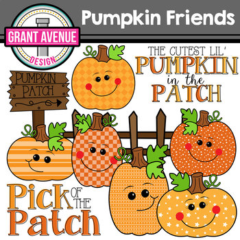 Pumpkin Friends Clipart