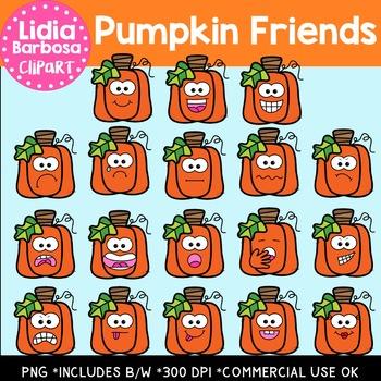 Pumpkin Friends Digital Clipart