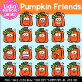 Pumpkin Friends Digital Clipart