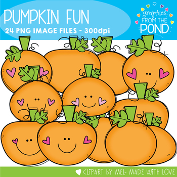 Pumpkin Fun Clipart Set