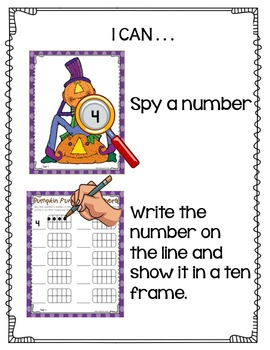 Pumpkin Fun I-Spy Numbers-Differentiated and Aligned