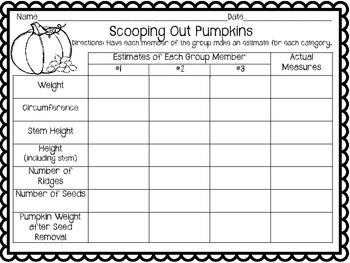 Pumpkin Fun: Math and Writing Activities