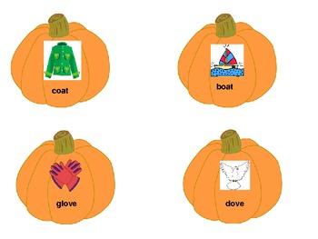 Pumpkin Fun Rhyming Center Cards