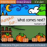 Pumpkin Fun: What Comes Next: Numbers 1-20 (SMART Board)