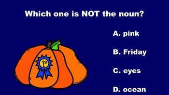 Pumpkin Fun With Nouns - A PowerPoint Game