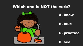 Pumpkin Fun With Verbs - A PowerPoint Game