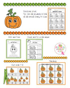 Pumpkin Fun Worksheets