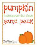 Pumpkin Game Pack (K-2)